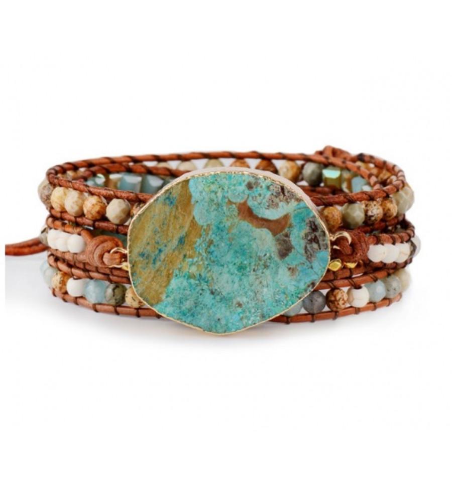 bracelet jaspe ocean