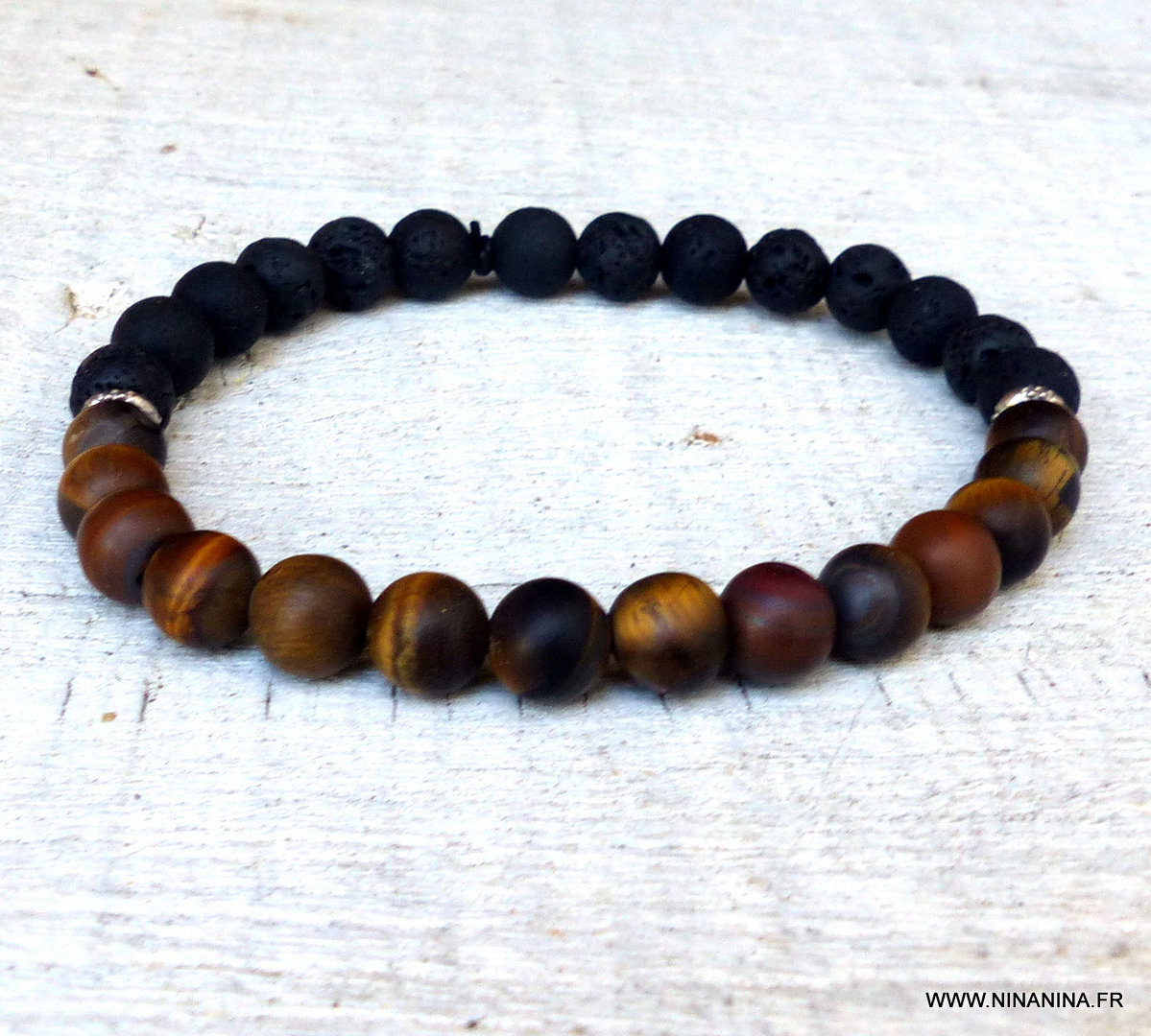 bracelet homme pierre oeil de tigre