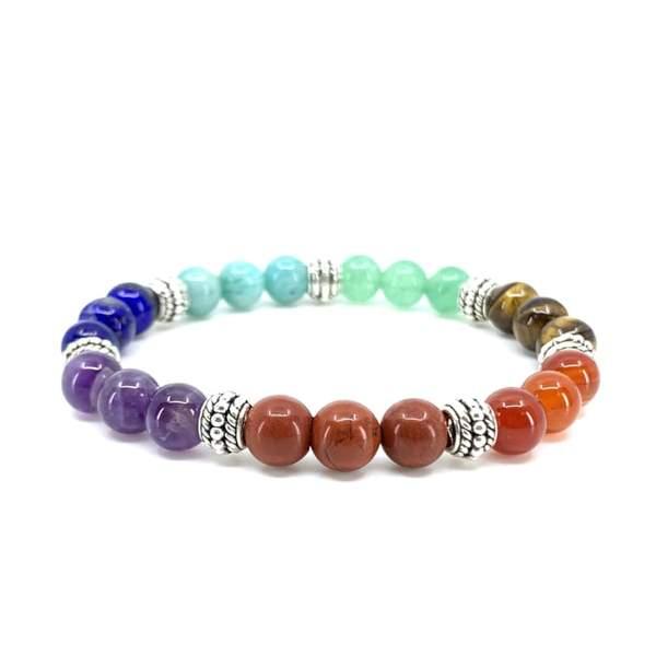 bracelet 7 chakras pierre