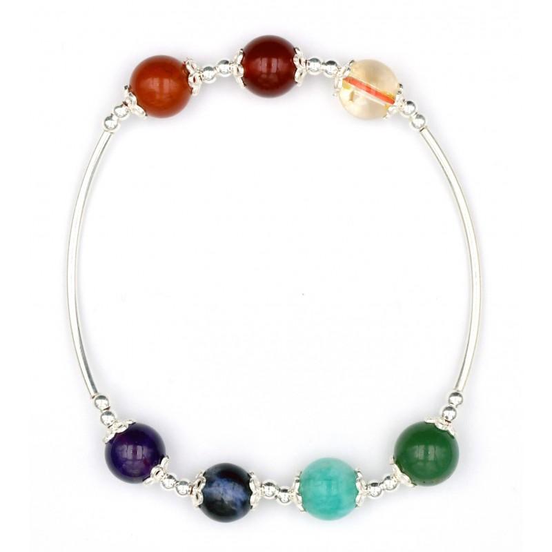 lithothérapie bracelet 7 chakras